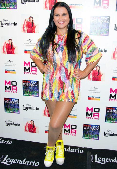 Human, Magenta, Pink, Style, Eyelash, Dress, Beauty, Fashion, Logo, Fashion model,