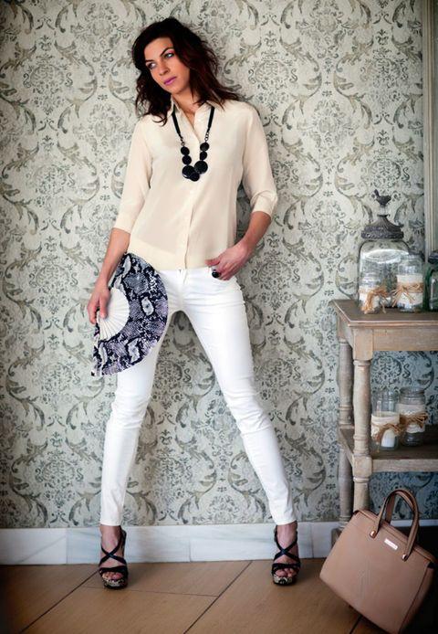 Clothing, Footwear, Leg, Sleeve, Shoe, Textile, Outerwear, White, Style, Fashion accessory,