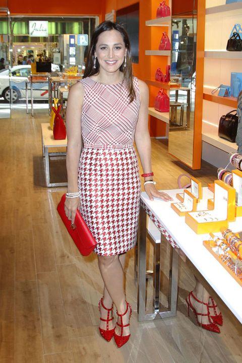 Dress, Floor, Flooring, One-piece garment, Customer, Shelf, Day dress, Retail, Cocktail dress, Street fashion,