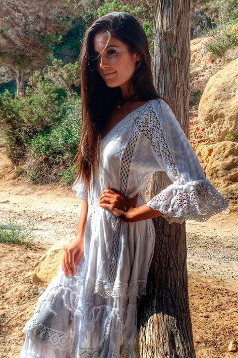 Clothing, Hairstyle, Sleeve, Dress, Summer, Beauty, Sunlight, Long hair, Youth, Day dress,