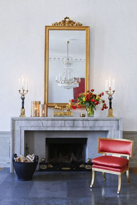 Room, Floor, Hearth, Interior design, Candle holder, Candle, Fireplace, Rectangle, Gas, Marble,