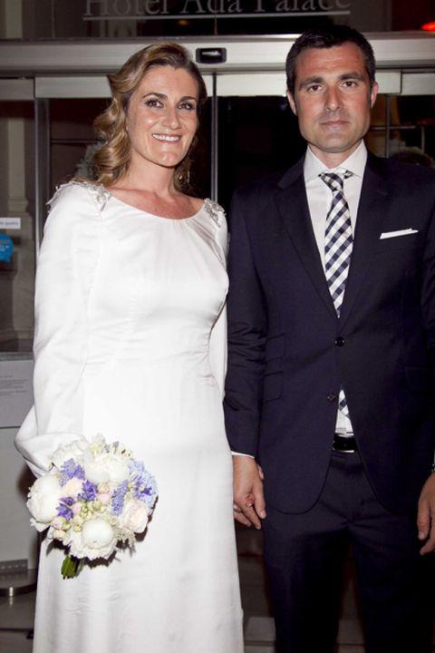 carlota corredera y carlos de la maza, el día de su boda
