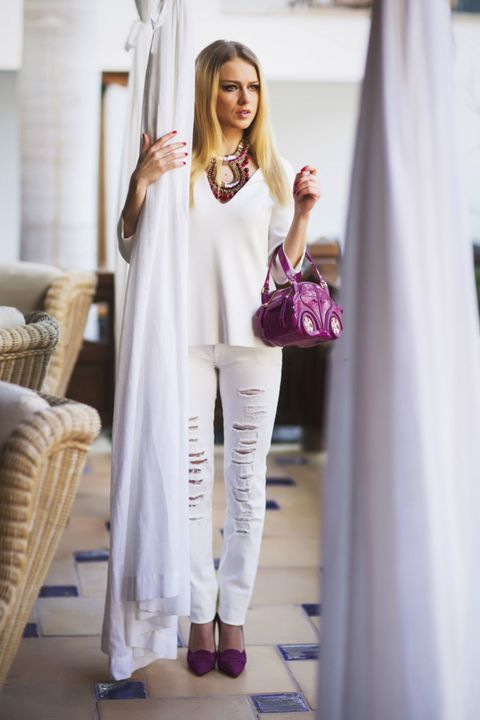 Textile, Style, Fashion, Wicker, Street fashion, Fashion model, Model, Blond, Fashion design, Silk,