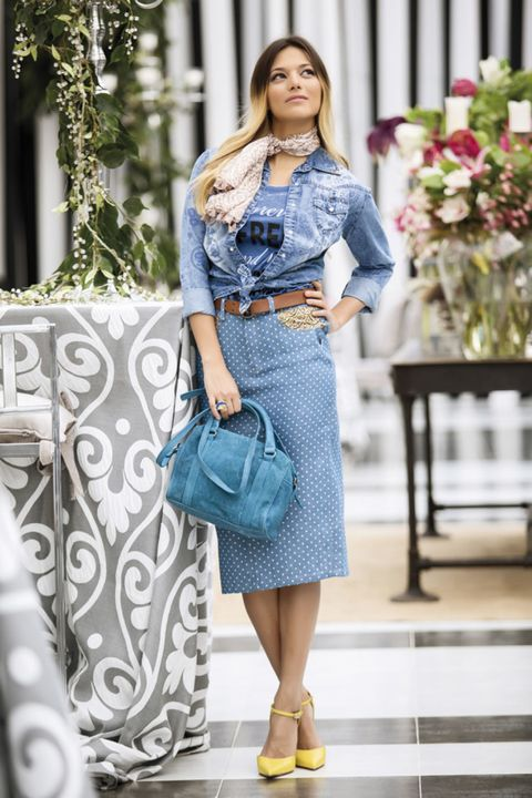 Clothing, Blue, Shoulder, Textile, Bag, Fashion accessory, Style, Pattern, Street fashion, Teal,
