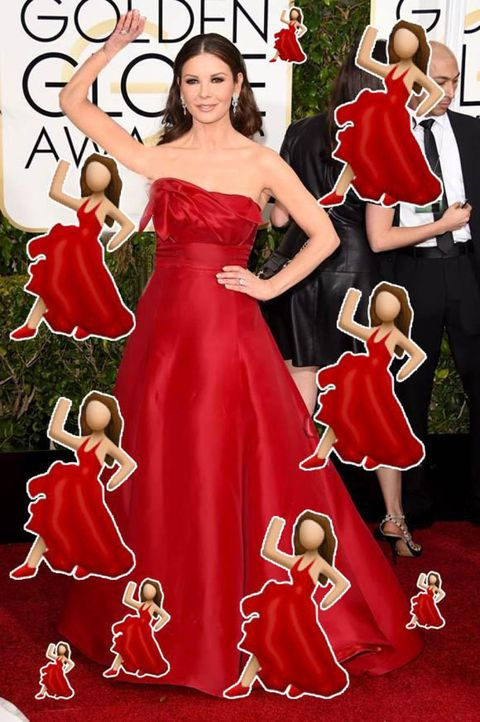Human, Red, Dress, One-piece garment, Carpet, Gown, Day dress, Costume accessory, Waist, Holiday,