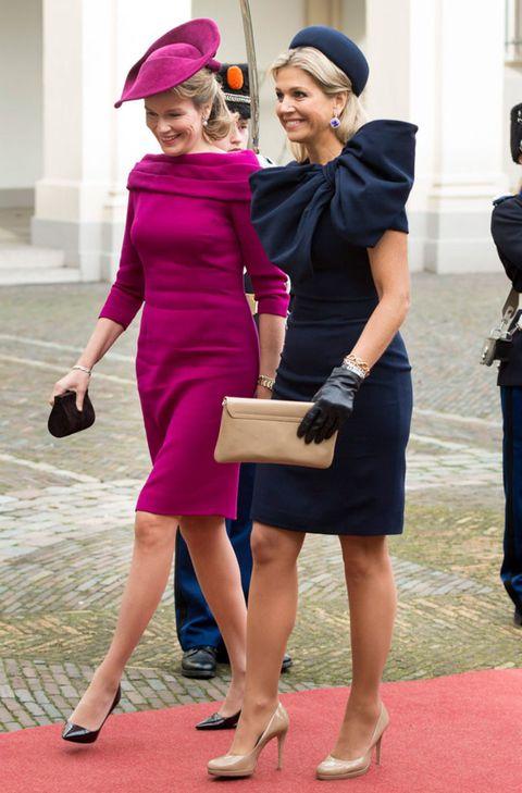 Footwear, Leg, Sleeve, Pink, Magenta, Dress, Style, Bag, Interaction, Purple,