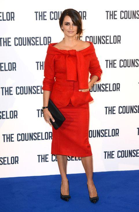 Footwear, Shoe, Sleeve, Shoulder, Dress, Joint, Red, Style, Formal wear, Fashion model,
