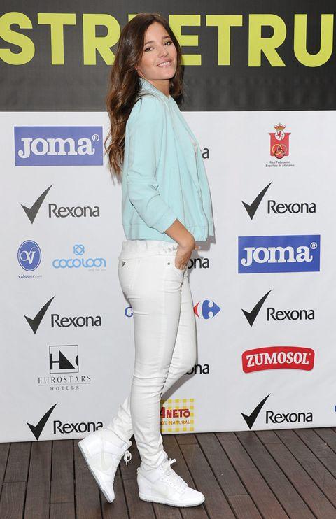 Sleeve, Trousers, Style, Logo, Wood flooring, Street fashion, Denim, Electric blue, Waist, Pocket,