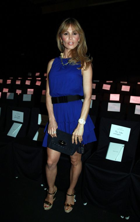 Clothing, Dress, Shoulder, Joint, Fashion accessory, Style, One-piece garment, Cocktail dress, Electric blue, Sandal,