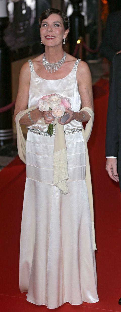 Clothing, Dress, Petal, Shoulder, Textile, Joint, Gown, Bridal clothing, White, Formal wear,