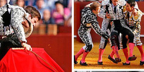 Matador, Performing arts, Tradition, Collage, Bullring, Animal sports, Bullfighting, Costume design, Dance, Costume,