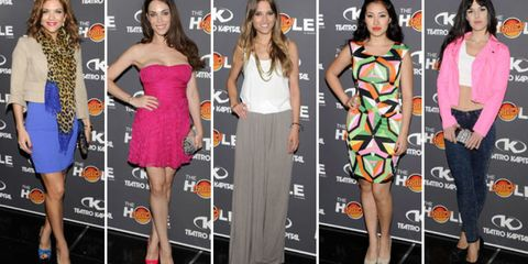 Clothing, Leg, Event, Dress, Style, Formal wear, Flooring, Fashion, Magenta, Beauty,