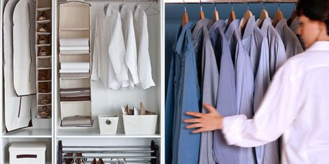 Room, Textile, Clothes hanger, Fashion, Collection, Closet, Wardrobe, Fashion design, Shelving, Dry cleaning,