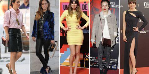 Clothing, Footwear, Leg, Shirt, Outerwear, Red, Fashion accessory, Dress, Waist, Style,
