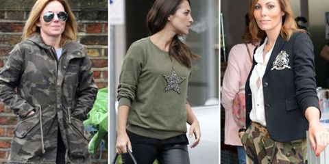 Clothing, Footwear, Green, Sleeve, Textile, Outerwear, Pattern, Style, Sunglasses, Street fashion,