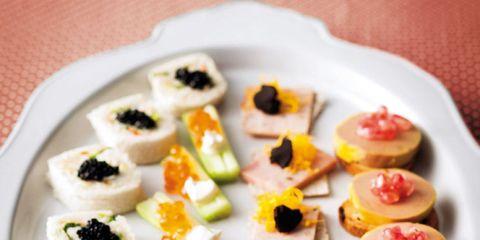 Cuisine, Food, Dishware, Sushi, Serveware, Dish, Tableware, Finger food, Culinary art, Plate,