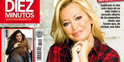 Human, Mouth, Hairstyle, Human body, Hand, Publication, Beauty, Fashion, Plaid, Magazine,