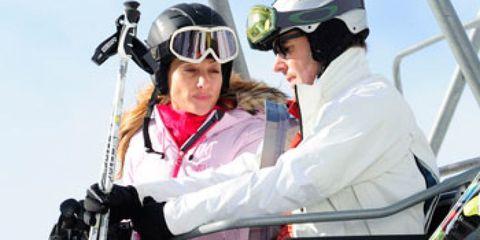 Helmet, Personal protective equipment, Goggles, Sports gear, Adventure, Glove, Crew, Boot,