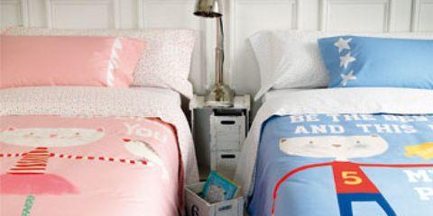 Bed, Blue, Room, Bedding, Bed sheet, Interior design, Bedroom, Textile, Linens, Furniture,