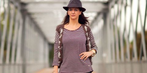 Sleeve, Hat, Human body, Shoulder, Joint, Standing, Style, Street fashion, Fashion accessory, Waist,