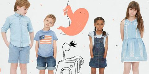 Dress, Standing, Denim, Child, Shorts, One-piece garment, Day dress, Toddler, Baby & toddler clothing, jean short,