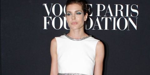 Ear, Shoulder, Eyelash, Earrings, Style, Dress, Jewellery, Logo, Fashion model, Beauty,