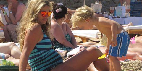 Clothing, Eyewear, Fun, Photograph, Brassiere, Sunglasses, Summer, Leisure, Sitting, Bikini,