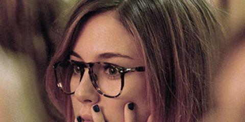 Eyewear, Vision care, Glasses, Lip, Finger, Hairstyle, Eyebrow, Eyelash, Organ, Beauty,