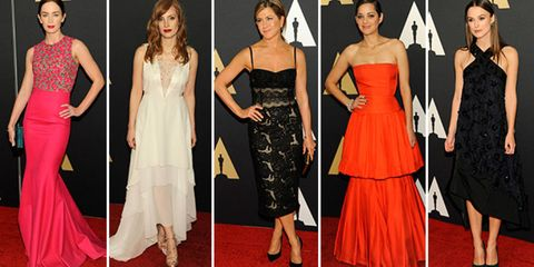Clothing, Dress, Trousers, Shoulder, Flooring, Red, Shoe, Outerwear, Formal wear, Style,