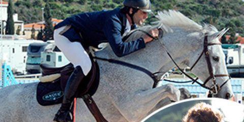 Human, Horse supplies, Horse, Bridle, Shoe, Helmet, Halter, Mammal, Rein, Equestrian helmet,