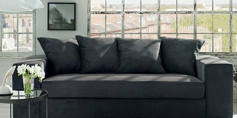 Interior design, Room, Wall, Living room, White, Couch, Furniture, Home, Interior design, Black,