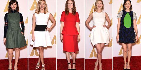 Clothing, Footwear, Leg, Dress, Shoulder, Red, Joint, Formal wear, Style, One-piece garment,