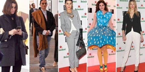 Clothing, Face, Footwear, Leg, Coat, Trousers, Outerwear, Bag, Formal wear, Style,