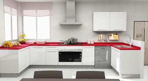 Room, Property, Interior design, Floor, White, Kitchen, Black, Interior design, Grey, Cabinetry,