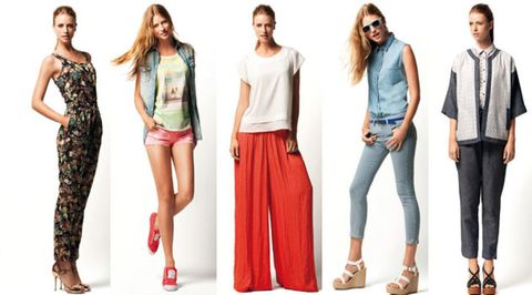 Clothing, Leg, Brown, Sleeve, Trousers, Denim, Shoulder, Textile, Red, Joint,