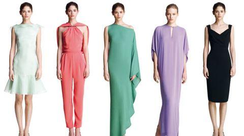 Clothing, Leg, Dress, Green, Sleeve, Shoulder, Standing, Joint, Waist, Red,