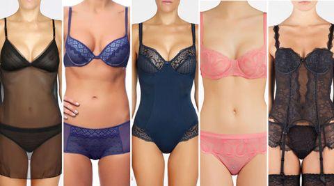 Clothing, Brassiere, Skin, Undergarment, Lingerie, Trunk, Waist, Thigh, Beauty, Swimsuit top,
