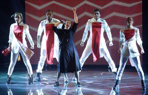 Performing arts, Costume design, Dancer, Artist, Stage, Fashion, Performance, Art, One-piece garment, Dance,