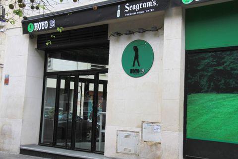 Green, Signage, Teal, Door, Sign, Street sign,