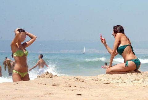 Clothing, Brassiere, Fun, Swimwear, Bikini, Swimsuit top, Photograph, Swimsuit bottom, Leisure, Undergarment,