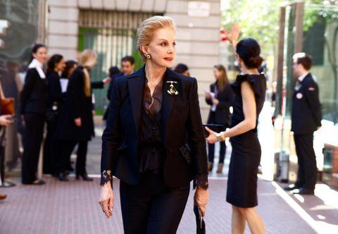 Clothing, Leg, Trousers, Coat, Outerwear, Suit, Formal wear, Dress, Style, Street fashion,