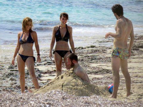 Clothing, Leg, Fun, Brassiere, Swimwear, Photograph, Beach, Swimsuit top, Swimsuit bottom, Bikini,