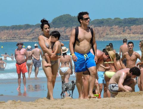 Leg, Fun, People, Human body, Barechested, Tourism, Leisure, Swimwear, Summer, People on beach,