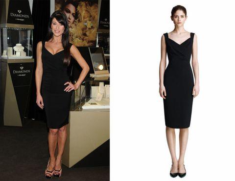 Dress, Sleeve, Shoulder, Joint, Standing, Waist, Human leg, Formal wear, One-piece garment, Style,