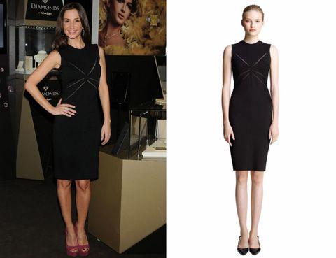 Leg, Dress, Sleeve, Shoulder, Joint, Standing, Formal wear, One-piece garment, Style, Waist,