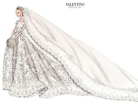 Sleeve, Dress, Textile, Formal wear, Bridal clothing, Gown, Wedding dress, Fashion, Art, Costume design,