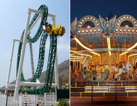 Landmark, Amusement ride, Amusement park, Nonbuilding structure, Carousel, Park, Tourist attraction, Bench, Fair,