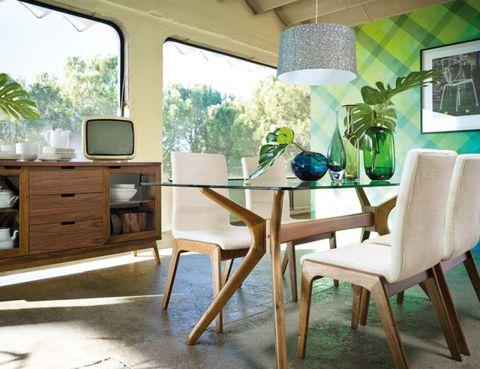 Wood, Room, Green, Interior design, Floor, Furniture, Table, Home, Flooring, Drawer,