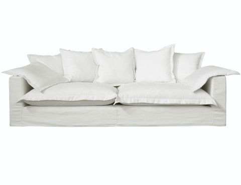 White, Furniture, Couch, Style, Pillow, Cushion, Living room, Grey, Beige, Rectangle,