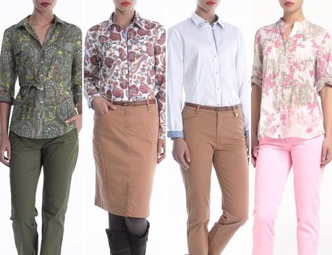 Eyewear, Leg, Brown, Dress shirt, Collar, Sleeve, Trousers, Shoulder, Standing, Khaki,